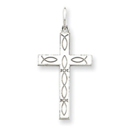 Picture of Sterling Silver Laser Designed Cross Pendant