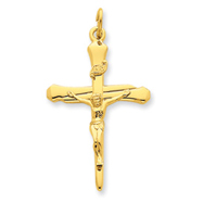 Picture of Sterling Silver 18K Gold Plated Crucifix Pendant
