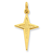 Picture of Sterling Silver 24K Gold Plated Passion Cross Charm
