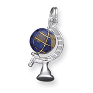 Picture of Sterling Silver Blue Enamaled Globe