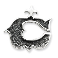 Picture of Sterling Silver Antiqued Gothic Initial C Pendant