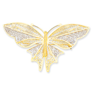 Picture of 14K Gold Rhodium Butterfly Pin