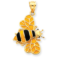 Picture of 14K Gold Enameled Bumblebee Pendant