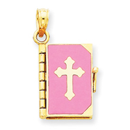 Picture of 14K Enameled Lord's Prayer Bible Pendant