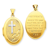 Picture of 14K Gold Footprints Locket