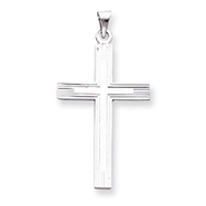 Picture of 14K White Gold Solid Cross Pendant