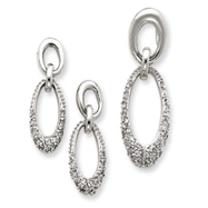Picture of Sterling Silver CZ Oval Earring & Pendant Set