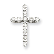 Picture of 14K  White Gold Diamond Cross Pendant