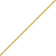 Picture of 14K Gold 1.9mm Round Diamond Cut Wheat Chain