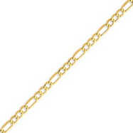 Picture of 14K Gold 4.75mm Semi-Solid Figaro Chain