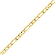 Picture of 14K Gold 7.3mm Semi-Solid Figaro Chain