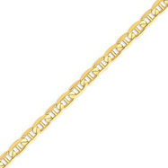 Picture of 14K Gold 7mm Concave Anchor Bracelet