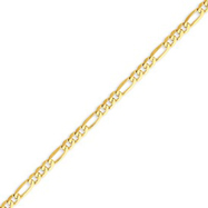 Picture of 14K Gold 4mm Flat Figaro Chain