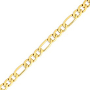 Picture of 14K Gold 8.75mm Flat Figaro Bracelet