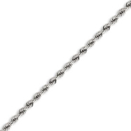 Picture of 14K White Gold 4.0mm Handmade Regular Bracelet