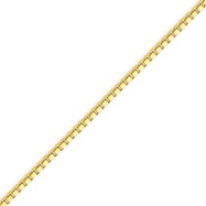 Picture of 14K Gold 2.25mm Lite Box Bracelet
