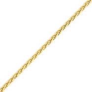 Picture of 14K Yellow Gold 3mm Round Wheat Chain