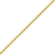 Picture of 14K Yellow Gold 2.5mm Round Wheat Chain
