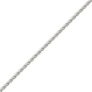 Picture of 14K White Gold 2.25mm Round Wheat Chain