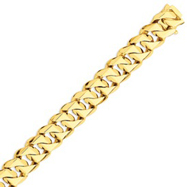 Picture of 14K Gold 16mm Hand Polished Traditional Link Bracelet