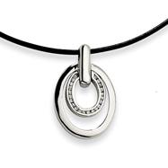 Picture of Stainless Steel Cubic Zirconia Pendant Necklace
