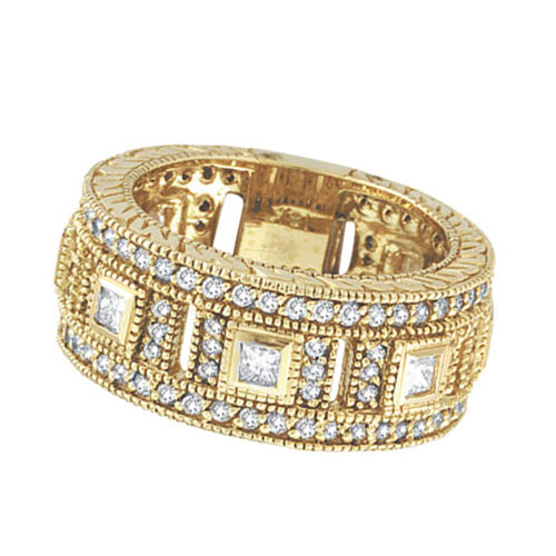 mu nmpaekg diamond p ring in nm bands set prod channel yellow collection eternity gold size band