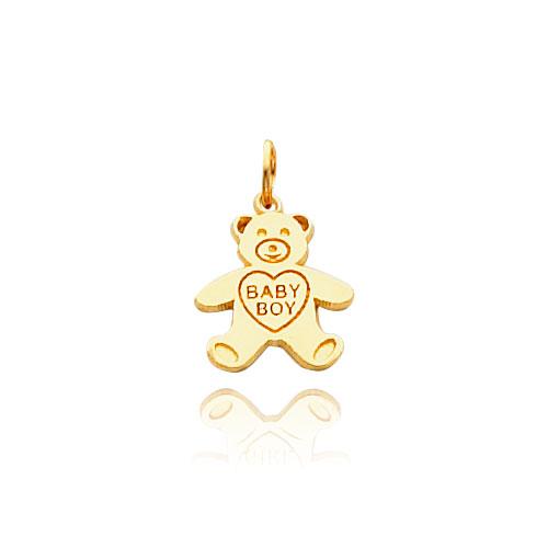 14k gold baby boy teddy bear necklace aloadofball Choice Image
