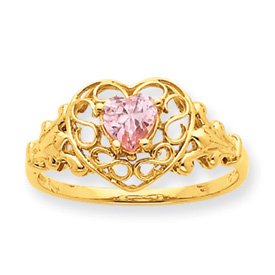 tourmaline october crown ring genuine pt princess rings birthstone with gold pink